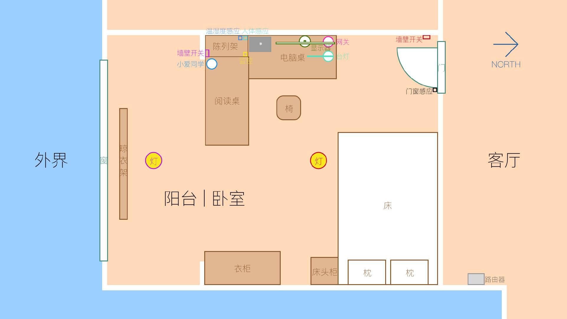 卧室平面图