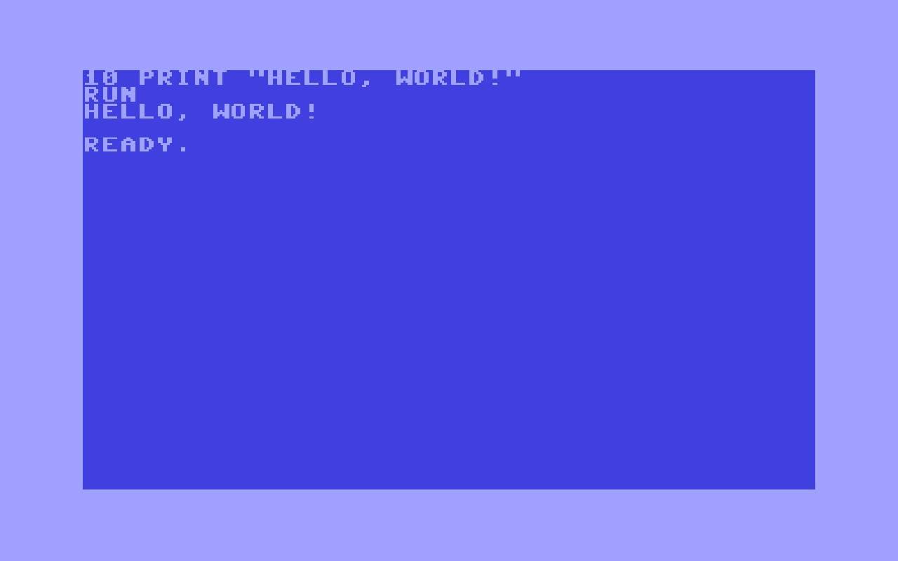 BASIC-HELLO, WORLD!